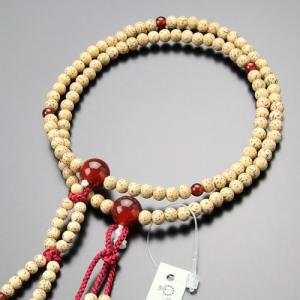 日蓮宗 数珠 女性用 8寸 星月菩提樹 瑪瑙 梵天房 数珠袋付き|nenjyu