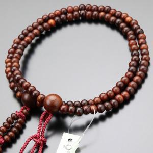 日蓮宗 数珠 女性用 紫檀(艶消し) 8寸 梵天房 数珠袋付き|nenjyu
