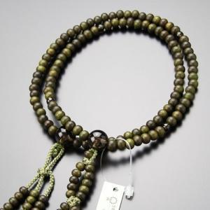 日蓮宗 数珠 女性用 8寸 緑檀 茶水晶 梵天房 数珠袋付き|nenjyu