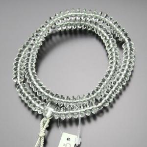 天台宗 数珠 女性用 8寸 グリーンアメジスト 梵天房 数珠袋付き|nenjyu