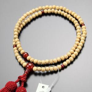 臨済宗 数珠 女性用 8寸 星月菩提樹 瑪瑙 正絹房 数珠袋付き|nenjyu