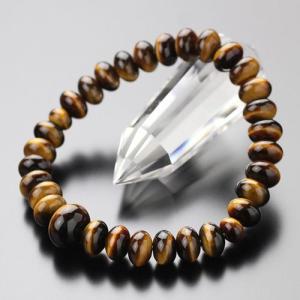 パワーストーン 数珠ブレスレット 虎目石 みかん玉(約9×6ミリ)