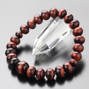 パワーストーン 数珠ブレスレット みかん玉(約8×10ミリ) 赤虎目石