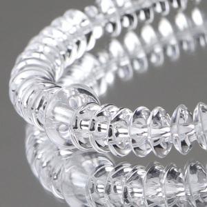 数珠 ブレスレット 54玉 平玉(7×3) 本水晶|nenjyu
