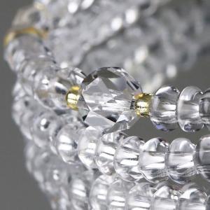 108玉 腕輪念珠 本水晶 カット本水晶 数珠ブレスレット|nenjyu