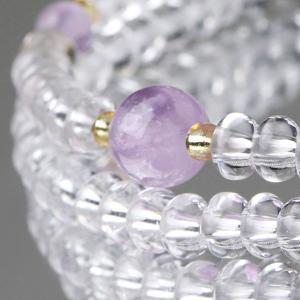 108玉 数珠ブレスレット みかん玉 本水晶 藤雲石 パワーストーン|nenjyu