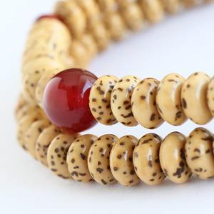 数珠ブレスレット 108玉 星月菩提樹 瑪瑙 腕輪念珠|nenjyu