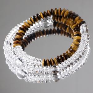 数珠 ブレスレット 天然石 本水晶/タイガーアイ 腕輪念珠 108玉|nenjyu