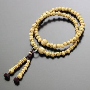 数珠ブレスレット 108玉 浄土宗 星月菩提樹 木製