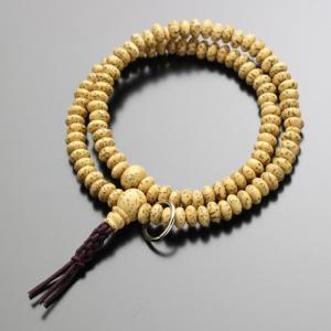 数珠ブレスレット 108玉 曹洞宗 星月菩提樹 木製