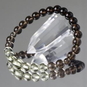 数珠ブレスレット 茶水晶/トパーズ グラデーション 約7ミリ 腕輪念珠|nenjyu