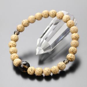 数珠 ブレスレット 星月菩提樹 茶水晶 約7.5ミリ 腕輪念珠|nenjyu