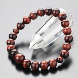 数珠ブレスレット 赤虎目石 約8ミリ 腕輪念珠 メンズ|nenjyu