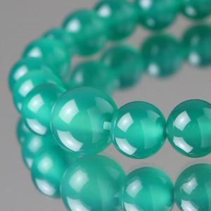 数珠ブレスレット 約8ミリ 緑瑪瑙 天然石