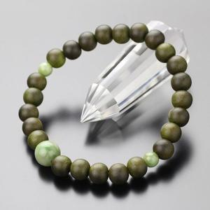 数珠ブレスレット 緑檀 独山玉 約8ミリ 腕輪念珠 メンズ|nenjyu
