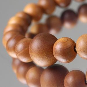 数珠 ブレスレット 尺二玉 白檀 (インド産) 腕輪念珠|nenjyu