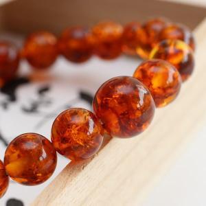 数珠 ブレスレット 琥珀 約10ミリ 腕輪念珠|nenjyu