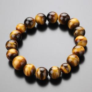 パワーストーン 数珠ブレスレット 約12ミリ 虎目石