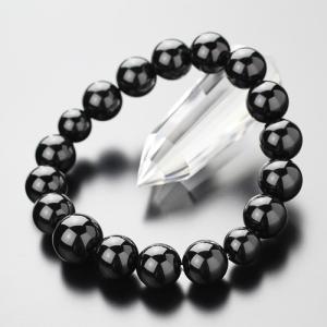 数珠ブレスレット 約12ミリ 黒オニキス 天然石|nenjyu