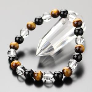 パワーストーン ブレスレット 約8ミリ 虎目石・オニキス・本水晶 天然石|nenjyu