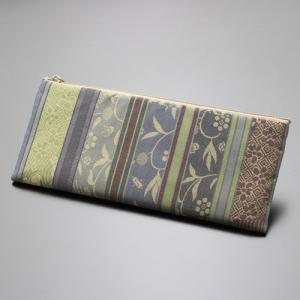 数珠袋/数珠入れ 名物裂 綿ペンケース型<寄裂横段・紺入> nenjyu