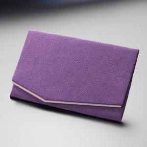 ふくさ 慶弔両用 袱紗 ちりめん金封ふくさ 似紫|nenjyu