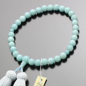 数珠 女性用 約8ミリ アマゾナイト 正絹房 京念珠 念誦|nenjyu