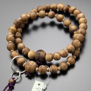 浄土宗 数珠 男性用 三万浄土 沈香 梵天房 数珠袋付き|nenjyu