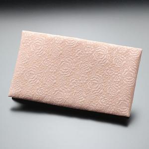 ふくさ 慶事用 ジャガード織 バラ柄(サンゴピンク色) nenjyu