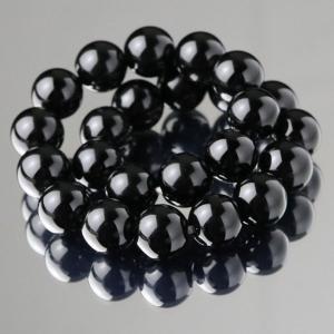 パワーストーン ブレスレット 約8ミリ モリオン ストレート 黒水晶|nenjyu