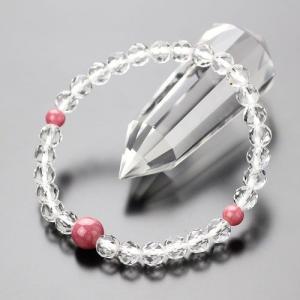 数珠ブレスレット 約6ミリ カット水晶 ロードナイト パワーストーン|nenjyu