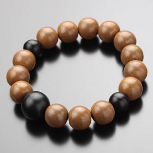 数珠 ブレスレット 正梅 黒檀 約12×13ミリ 木製