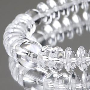 数珠ブレスレット 36玉 平玉 本水晶 腕輪念珠|nenjyu