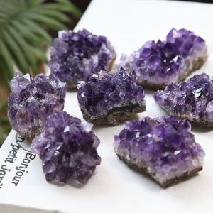アメジストクラスター ウルグアイ産 ≪小・1個≫ 原石 パワーストーン 天然石 2月の誕生石|nenjyu