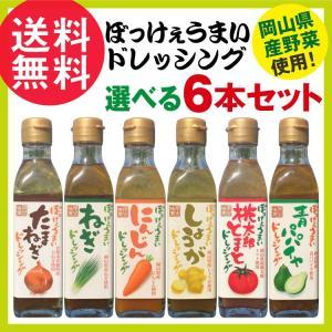 選べる6本セット ぼっけぇうまいドレッシング 200ml×6 / 岡山県産野菜使用 サラダ ドレッシング nenrin