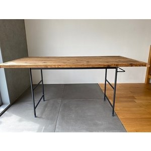 鉄と古材のWORK TABLE