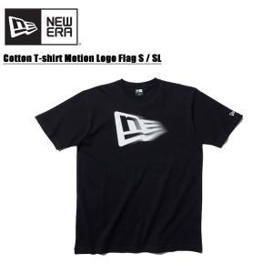 ニューエラ NEW ERA コットン Tシャツ モーションロゴ フラッグS/SL Black  半袖...