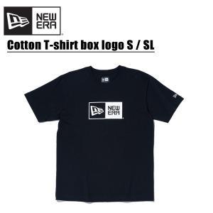 ニューエラ NEW ERA コットン Tシャツ ボックスロゴ S/SL Black  半袖Tシャツ ...