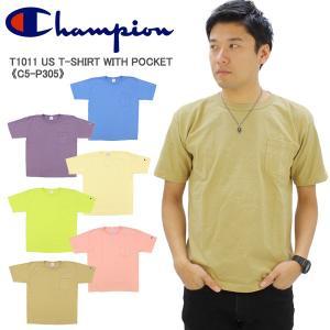 チャンピオン Champion T1011 ティーテンイレブン  US ポケットTシャツ  MADE...