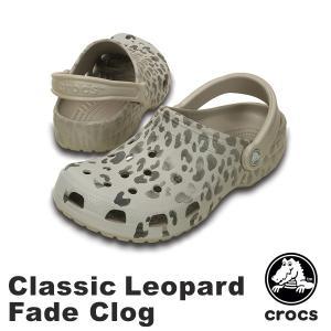クロックス(CROCS) クラシック レオパード フェイド ...