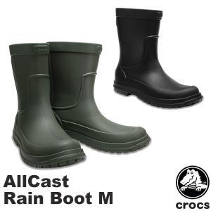 クロックス CROCS オールキャスト レイン ブーツ メン allcast rain boot m...