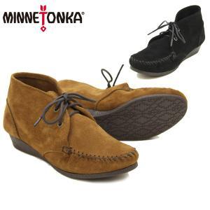 ミネトンカ(MINNETONKA) チャッカ ウェッジ ブーティ(Chukka Wedge Bootie) レディース/ウィメンズ用 スエード ブーツ