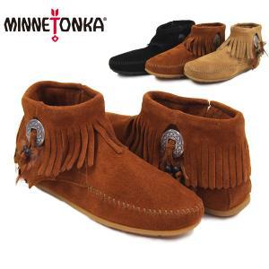 ミネトンカ(MINNETONKA) コンチョ フェザー サイドジップブーツ(Concho Feather SideZip)