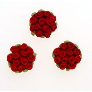 デコパーツ レジンパーツ 樹脂バラ直径1.5cm大きめ クレイ薔薇の花束[d-r1]|neocolle