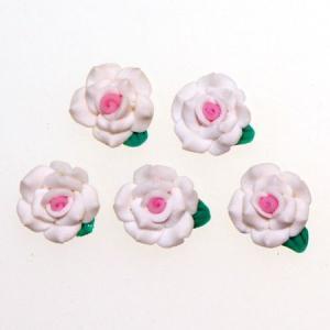 デコパーツ レジンパーツ 1.3cm少し大きめの樹脂薔薇2色使い[d-r4]|neocolle