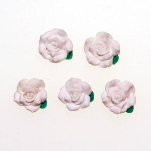 デコパーツ レジンパーツ 1.3cm少し大きめの樹脂薔薇真っ白[d-r5]|neocolle