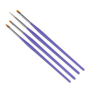 ジェルネイル 筆 ジェルネイル用 ジェルブラシ &斜めブラシと細めドットペンの4本セットで 3Dジェルにも最適|neocolle