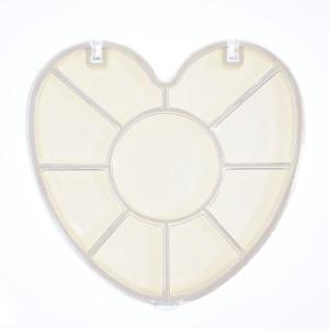 ネイルパーツ ハート型ラインストーンケース10部屋 ウキウキ ハートの形のストーンケースにお気に入りを入れよう 小物収納容器|neocolle
