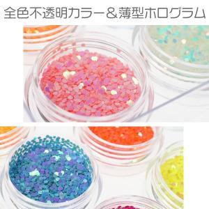 ネイル 六角ホログラム珍しいパステルカラー&蛍光カラーの1mm12色セットケース入り ジェルネイルなどに レジンパーツ|neocolle|03