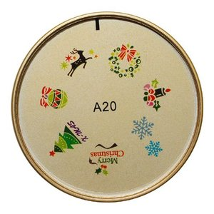 ネイルスタンプ#20 クリスマスツリー 雪 トナカイ マニキュアを使うネイルアート|neocolle